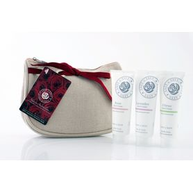 Trio Mini Hand Creams in Cosmetic Bag