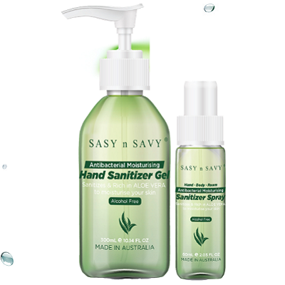 Hand Sanitizer Gel and Spray | Antibacterial | Alcohol Free | Contains Benzalkonium chloride | Sasy n Savy